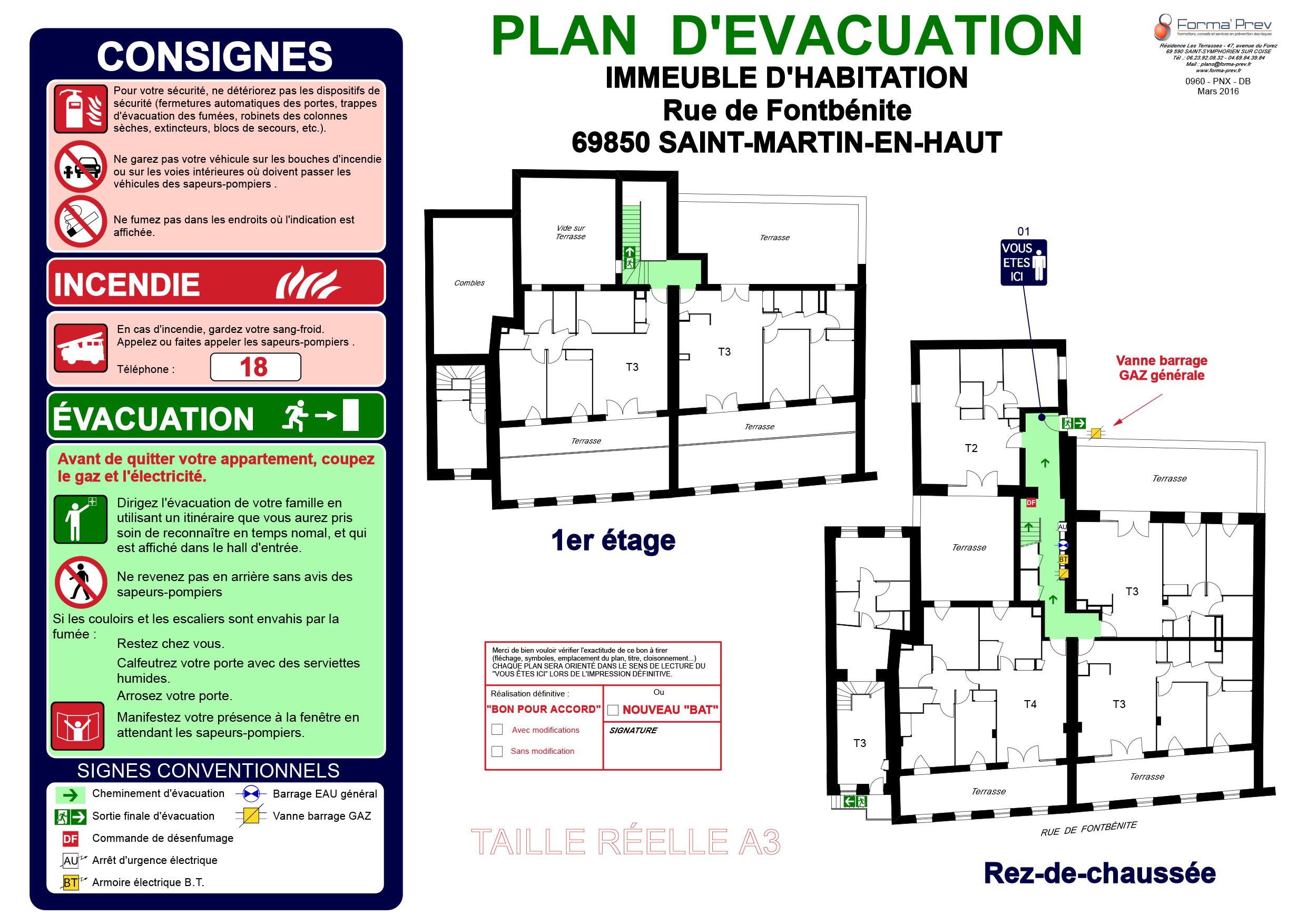 Plan d'évacuation 1
