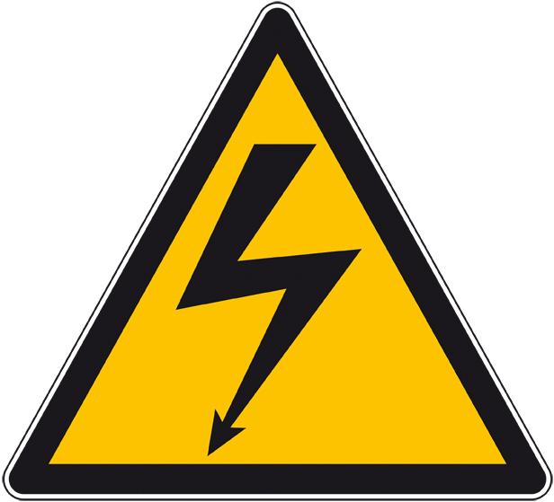 Triangle danger électrique